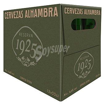 Alhambra Cerveza Alhambra Reserva 1925 pack de 12 botellas de 33 cl 33 cl