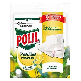 polil Pastillas antipolillas perfumadas aroma a cítricos del Mediterráneo 24 unidades