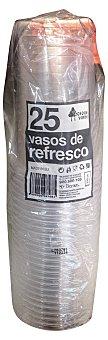 Bosque Verde Vaso desechable plastico refresco 370 cc transparente Paquete 25 u