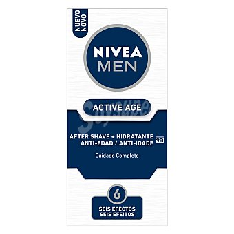 Nivea For Men After shave + hidratante 2 en 1 cuidado completo Active Age Frasco 75 ml