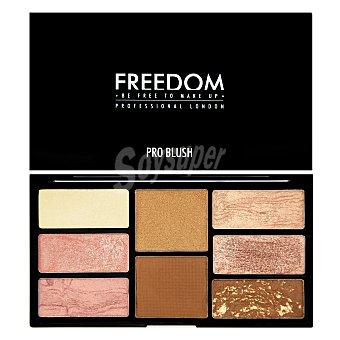 Paleta de coloretes e iluminador Bronze & baked Freedom 1 ud