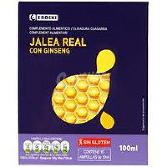 Eroski Jalea real con ginseng Caja 10 viales