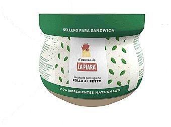La Piara Relleno sándwich pollo con pesto El Corral de Tarro 180 g
