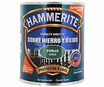 HAMMERITE Esmalte metálico para uso exterior antióxido y de color verde forja 0,75 litros