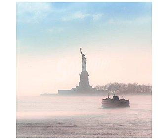 York Lienzo de hermoso paisaje de la estatua de la libertad en la ciudad de Nuevo impreso en canvas, lamina 45x45 cm, artis