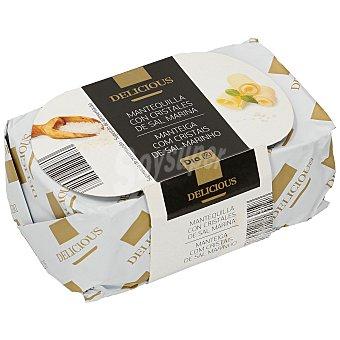 DIA Delicious Mantequilla con cristales de sal marina pastilla 250 gr Pastilla 250 gr
