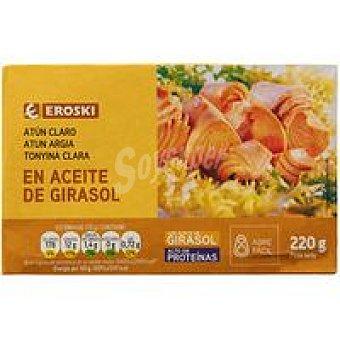 Eroski Atún claro en aceite vegetal Lata 220 g