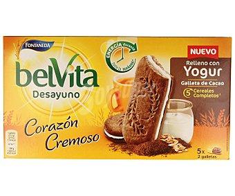 BELVITA Galletas de cacao rellenas de yogur 253 g