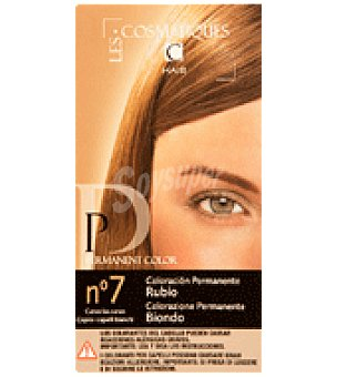 Les Cosmetiques Crema colorante permanente Castaño Nº 7 1 unidad