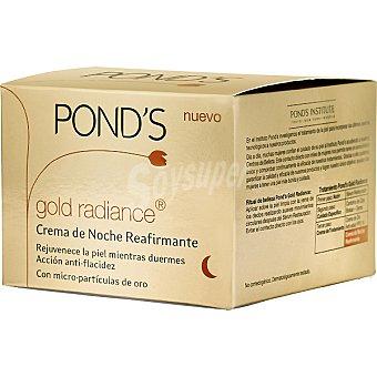 POND'S Gold Radiance Crema de noche rejuvenecedora con micropartículas de oro Tarro 50 ml