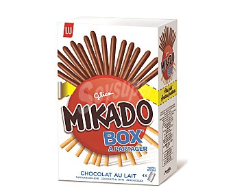 Mikado Palito recubierto de chocolate con leche Pack de 4x75 g