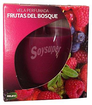 Bosque Verde Vela vaso cristal aroma frutas del bosque 1 unidad