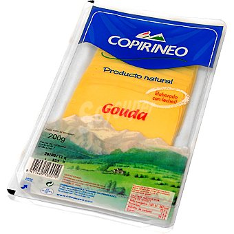 Copirineo Queso gouda en lonchas Bandeja 200 g