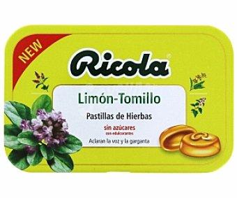 Ricola Pastillas hierbas (limón y tomillo) sin azúcar Pastilla lim/tom S/Az60g
