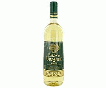 Baron de Urzande Vino Blanco Semidulce Botella 75 Centilitros