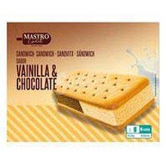 Maestro Sandwich de vainilla-chocolate delizioso gelato Pack 6 x 100 ml
