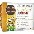 Protect Junior Jalea Real, Propóleo y 12 Vitaminas caja 20 viales de 10 ml para el funcionamiento normal del sistema inmunitario 10 ml Marnys