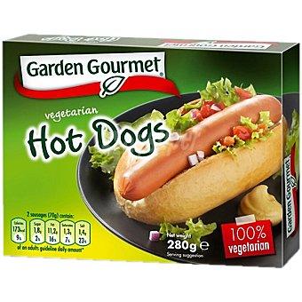 GARDEN GOURMET Hot Dogs de soja y proteína de trigo 100% vegetal Estuche 280 g