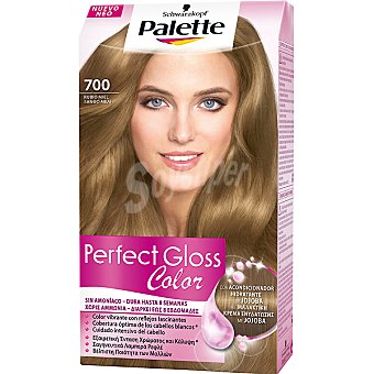 Palette Schwarzkopf Tinte Perfect Gloss Color nº 700 rubio miel con acondicionador de jojoba sin amoniaco Caja 1 unidad