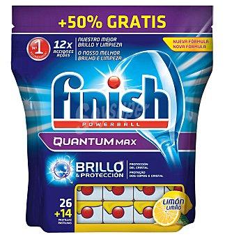 Finish Detergente lavavajillas maquina pastillas quantum limon 26+14