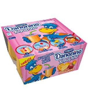 Danone - Danonino Yogur sabor macedonia Yogudino Danone pack de 4x85 g