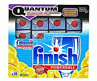 FINISH QUANTUM Detergente Lavavajillas Pastillas Quantum Limón Lavavajillas 30p