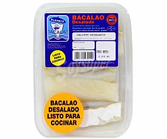 ALKORTA Palitos de bacalao desalados rebozados Bandeja de 300 gramos