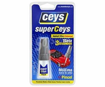 Ceys Adhesivo Instantaneo Transparente con Pincel Aplicador. 5 Gramos 1 Unidad