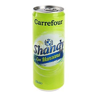 Carrefour Cerveza Shandy con manzana 33 cl