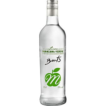 BEAT'S Licor de manzana verde Botella 70 cl
