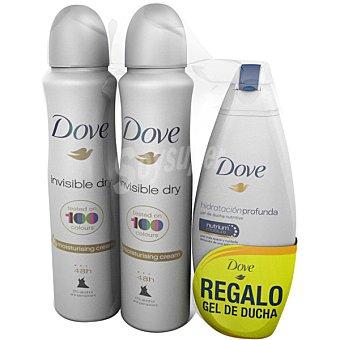 Dove Desodorante Invisible dry  pack 2 spray 200 ml