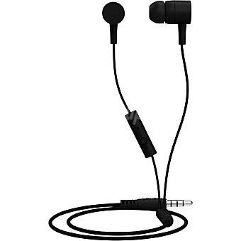 MAXELL Auriculares de botón intrauditivos con micrófono en color negro 1 Unidad