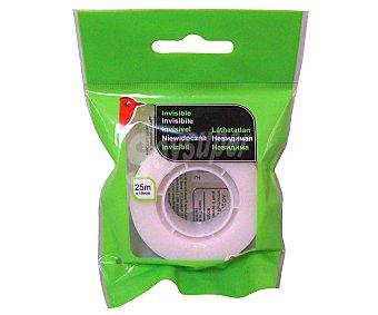 Auchan Cinta adhesiva invisible de 19 ml y 25 m 1 unidad