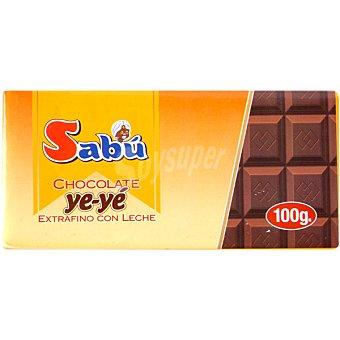 Sabu Chocolate Ye-Ye extrafino con leche Tableta 100 g