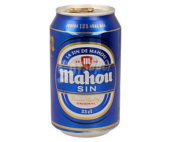 Mahou SIN cerveza sin alcohol Lata 33 cl