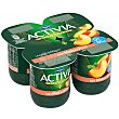 Yogur desnatado con melocoton 0% materia grasa pack 4 unidades 125 g Activia Danone