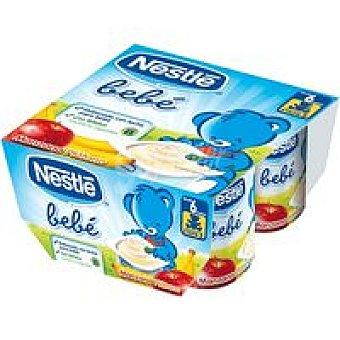 Nestlé Bebé Yogur de frutas Pack 4x100 g