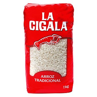 La Cigala Arroz redondo tradicional Paquete 1 kg