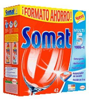 Somat Lavavajillas máquina todo en 1 pastillas 42 ud