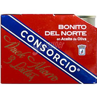Consorcio Bonito del norte en aceite de oliva Pack 3x82 g
