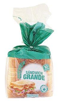 Hacendado Pan molde blanco sandwich 10 rebanadas grandes Paquete 520 g