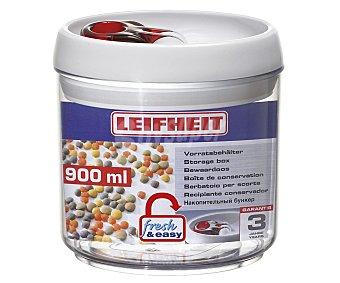 Leifheit Recipiente hermético de plástico modelo Fresh & Easy, 0,9 litros de capacidad 1 unidad
