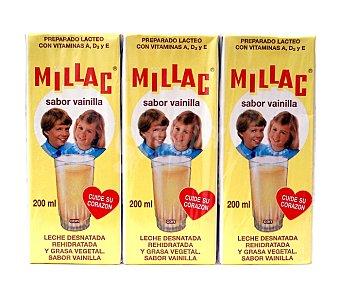 Millac Batido de Vainilla Pack 3x200ml