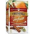 Infuso infusión de roiboos, naranja y canela Estuche 20 bolsitas Twinings
