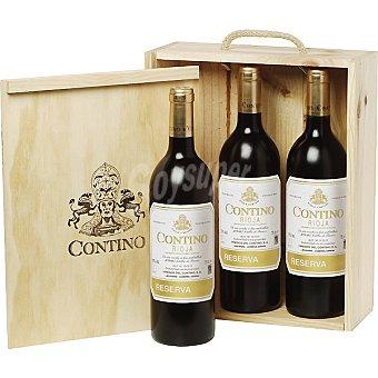 Contino Vino tinto reserva D.O. Rioja Estuche de madera 3 botellas 75 cl