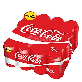 Coca-Cola Refresco de cola pack de 16x33 cl