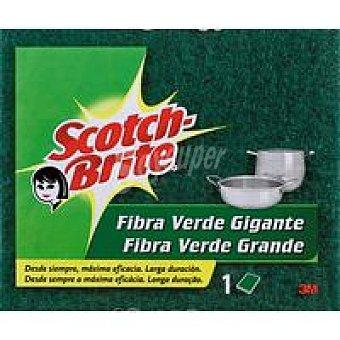 Scotch Brite Estropajo de fibra verde gigante Pack 1 unid