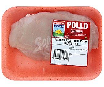 Auchan Producción Controlada Pechuga de pollo fileteada 325 Gramos