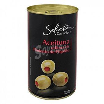 Carrefour Selección Aceitunas verdes rellenas de pimiento de Piquillo 150 G 150 g