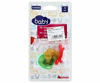 Baby Chupete cereza de látex +4 Meses 2 Unidades